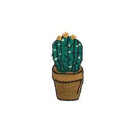 Small Size Cactus Applique Iron on Patches 10pcs lot High Quality Embroidered Iron Sew On Clothes Bags