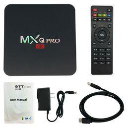 Acheter en ligne Amlogic android-Amlogic MXQ PRO Android TV 5.1 Box Quad Core Smart TV Boxes WiFi KODI 16.1 Totalement chargé 4K Media Player TV Boîtes Remoted MXQ
