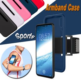 Sports Arm Bands Belt Case Running Gym Cell Phone Arm Bag Workout ArmBand Holder Pounch Protective Silicone Cover For iPhone X 8 7 Plus 6 6S