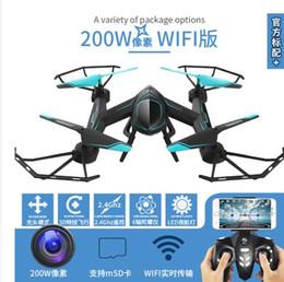 Promotion drones de caméras aériennes Puissant Drone RC Avec 2 mégapixels Caméra 2.4GHz 360 ° temps réel Image panoramique Photographie aérienne Drone avec 2 batteries rechargeables