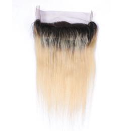 Nouveaux produits Indian Straight 14x3x2 Inch 360 Lace Frontal Fermeture 9A Virgin Cheveux Humains Dentelle Frontal Fermeture 1B 613 Two Tone Color à partir de 12 pouces cheveux humains deux tons fabricateur