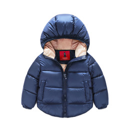 2016 New kids Winter Warm Coat Baby Boys Girls Outerwear & Coats Fashion White Duck Down children Jacket Coat for Boys clothing