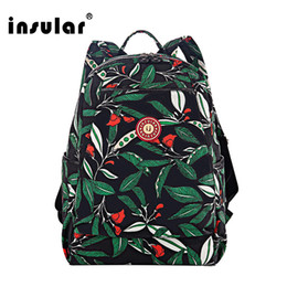 Insular Floral Printing Nylon Baby Diaper Bag Backpack Waterproof Mommy Bag Nappy Backpack
