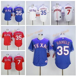 Wholesale New Baseball Cole Hamels Jersey Texas Rangers Ivan Rodriguez Jerseys Cooperstown Flexbase Cool Base Pullover Button White Grey Blue Red