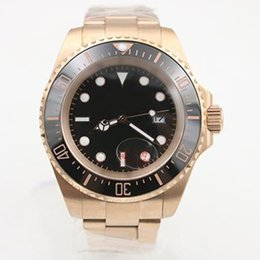 Wholesale Luxury Brand Mens Watch SEA DWELLER Oyster Rose Gold Deep Men Watches Automatic Movement Mechanical Stainless Steel Sea Wristwatch