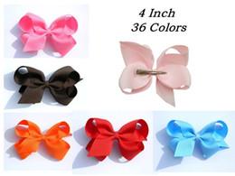 """4"""" Grosgrain Ribbon Boutique bow clip ,girl Children Hair headwear 100pcs"""