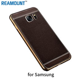 Fashion Style Leather Patten TPU Case Cover Plating Ultra Thin Back Cover Case for Samsung s6 s6edge s7 s7edge for Samsung s8 s8plus Case