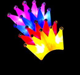 LED Crystal Crown Headbands Light Up Party Rave Fancy Dress Costume Light Up Brithday Hen Party Flashing Headbands Christmas Holiday favors