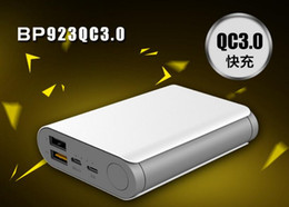 Wholesale Belpink mAh QC3 Dual USB Output Mobile Power Bank Two way Fast Charge Power Bank for iPhone Android Smartphone