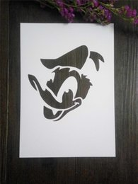 Painting stencils for kids Masking template For Scrapbooking,cardmaking,DIY cards,wall and more- Donald Duck