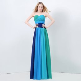 Wholesale Sweetheart Gradient Prom Dress - 2016 Sexy Sweetheart Evening Dresses A Line Beaded Crystal Lace-up Gradient Ramp Blackless Elie Saab Celebrity Formal Prom Party Gowns