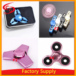 EDC Aluminum Metal Tri Finger Hands Spinner Fidget Toy Torqbar Brass For Anti Stress For Adult and Kids Decompression toys