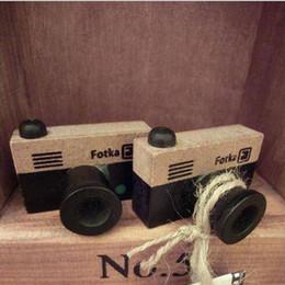Acheter en ligne Caméras pour les filles-Vintage caméra en bois Stamp DIY décalque pour Scrapbooking timbre Zakka papeterie enfants fille cadeau d'anniversaire Kids Party Favors ZA2244