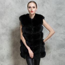 Desconto women s faux fur vest 2016 Winter Warm Waistcoat Mulheres Importar Pele Inteira Faux Fox Fur Vest Casaco High-Grade Lazer Shitsuke Mulheres Tamanho Coat S-XXL