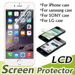 2016 écrans lcd samsung Transparent Clear Film Protecteur d'écran LCD avec tissu pour iPhone 7 Plus 6S 6 SE 5S Samsung Galaxy Note 5 S7 S6 Edge Livraison gratuite écrans lcd samsung sur la vente
