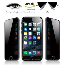 Wholesale Privacy Tempered Glass for Iphone Plus Iphone S Plus Samsung Galaxy S7 S6 S5 Note Note Screen Protector Anti Spy
