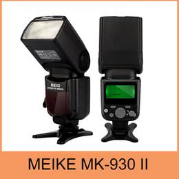2016 meike flash de la cámara Venta al por mayor-Meike MK930 II, MK930 II como Yongnuo YN560II YN-560 Flashlight II II Para las cámaras de Fujifilm descuento meike flash de la cámara