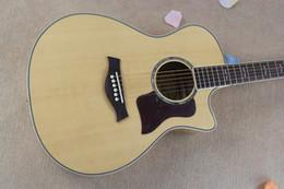 Nuevo estilo de Burlywood Tay del lor 614CE del envío libre Cortina magnífica del pescador de la guitarra eléctrica de madera sólida del palisandro del gran salón del auditorio desde guitarra corte envío libre proveedores