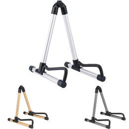 Wholesale Professional Guitar Stand Universal Folding A Frame Use for Acoustic Electric Guitars High quality guitar floor stand holder