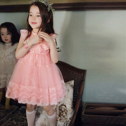Kids Girls Tutu Lace Party Dress Ruffles Princess Spring Summer Holiday Party Dress