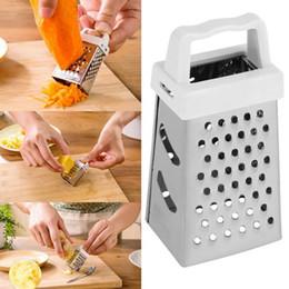 Máquina cepilladora en Línea-Mini acero inoxidable cuatro lados Grater 7.5 * 3.5cm Vegetales Slicer Cutter Plano de rectificado Herramientas de cocina Gadget