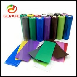 Newest 18650 Battery PVC 70mm Skin Sleeve Sticker 14 colors Shrinkable Tubing Wrap Heat Shrink With Free Shipping