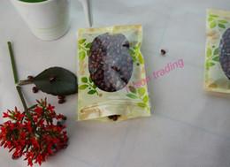 Acheter en ligne Impression poly-16 * 24cm, 100pcs / lot Impression de fleurs PET sac en plastique ziplock avec fenêtre-pack de stockage de biscuits poly sachet resellable, sac de nourriture au chocolat
