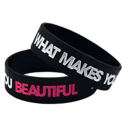 50PCS Lot ONE DIRECTION What Make You Beautiful Silicone Wristband Great To Used In Any Benefits Gift For Music Fans