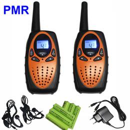 Deux radios bidirectionnelles vente à vendre-Vente chaude radio portable T628 Walkie Talkie UHF PMR 400-470MHz 1W 8CH portable Radio bidirectionnelle avec chargeur d'écouteur de batterie