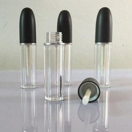 2016 New Arrival Empty LIp gloss Tubes Black Top Bullet Shape DIY Lip balm tube Lipstick Packing container