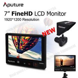 """A7s sony en Línea-Aputure VS1 FineHD Panel LCD HD de 7 """"Monitor digital de vídeo Entrada HDMI AV para Canon Nikon Videocámara Sony A7s DSLR Cámara GH4 GoPro"""