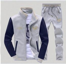 Wholesale Sports suits Jacket men hoodies sweatshirts brand mens clothing fashion casual track suits sport jcoat baseball men clothes set