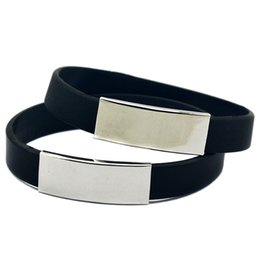 50PCS Lot Silicone Wristband with Metal Piece Ornament, Flexible And Strong. Wear This Bracelet To Show Your Difference