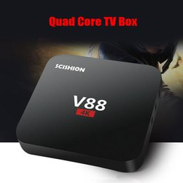 Wholesale Quad core RK3229 Android V88 K Boxes Android OTT TV Box Media Player support Kodi Wifi HDMI android tv box