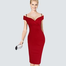 New Arrival Sexy Summer Vacation Fashion Solid V Slash Neck Sleeveless Vintage Dress Spaghetti Strap Zipper Gorgeous Sheath Dress DK1728LY