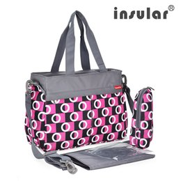 Wholesale Fashion Multifunctional Baby Diaper Bag Large Capacity 600D Nylon Mommy Tote Bag Changing Bag