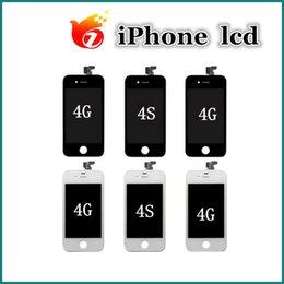 Calidad del AAA para la disposición libre DHL del sistema completo del digitizador de la exhibición de la pantalla táctil del iPhone 4 4s Lcd desde iphone 4s conjunto completo proveedores
