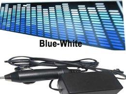 Wholesale Blue White Electroluminescent Car Sticker Super Led El Animated Car Sign Car Sticker Music Rhythm LEd