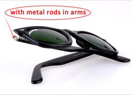 Descuento lentes polarizadas Soscar UV400 gafas de sol de diseñador de la marca de fábrica para las mujeres Moda de alta calidad polarizada lente de cristal con caja de gafas de sol de cuero