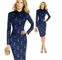 Vfemage Womens Elegant Floral Lace Colorblock Off Shoulder Formal Party Cocktail Slim Sheath Fitted Pencil Bodycon Dress