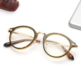 Men s round eyeglass frames en Línea-Cheap Retro Óptico Marco Mujer De Los Hombres De Lentes Transparentes Gafas De Lente Plástica Alrededor De Lentes Con Alta Calidad Oculos De Sol