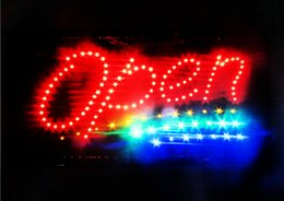 Wholesale Led Open Sign hanging LED Light Animated Neon Sign size inch semi outdoor advertising Plastic PVC frame Display
