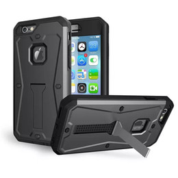 Wholesale Tank Armored Phone Cover For Iphone s Plus Samsung S7 edge LG G4 G5 Hybrid in Water Resistant Stand Cover With OPPBAG