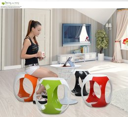 Wholesale living room plastic ABS stool cafe house chair household garden stool bedroom study stool retail whoelsale