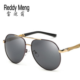 Reedy Meng High-end quality Luxury brand Made of wood and metal stainless steel polarized lights men and women sunglasses driving Sunglasses
