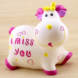 Creative calf piggy bank, sheep, sheep coins, money cans, not bad, do not break children's birthday gifts