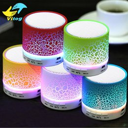 Wholesale 2016 New LED MINI Bluetooth Speaker A9 TF USB FM Wireless Portable Music Sound Box Subwoofer Loudspeakers For phone PC with Mic