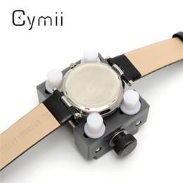 Relojes de los hombres titular en venta-Venta al por mayor- Reloj Cymii Mans Watch kits de herramientas de reparación Volver titular del caso Adjustable Remover abridor de excelente calidad