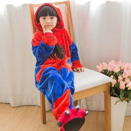 Kids Boys Girls Clothes Pijamas Flannel Pajamas Child Pyjamas Hooded Sleepwear Cartoon Animal Spiderman Cosplay Design