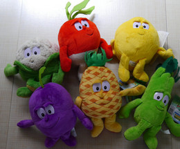 Wholesale IN HAND Fruits vegetable Celery Lemon Radish Pineapple Grape cauliflower STUFFED PLUSH DOLL TOY PLEASE READ